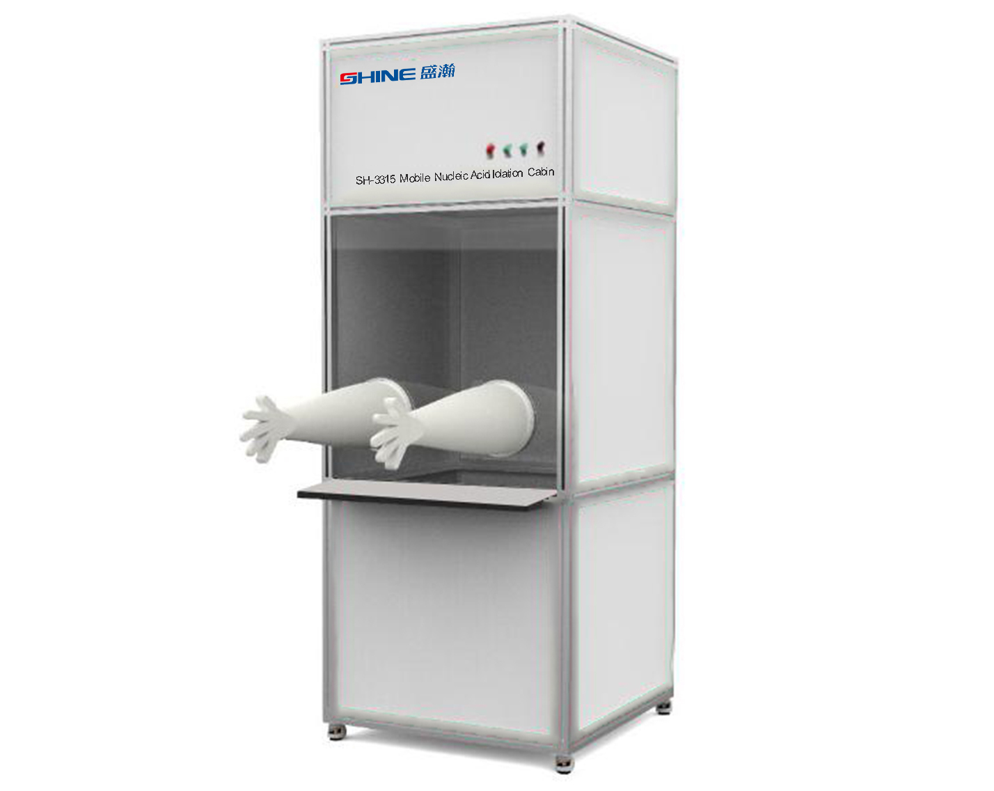 Mobile collection nucleic acid iolation cabin